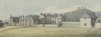Gregynog Hall - Grygynnog house, before it was rebuilt in the 1840s