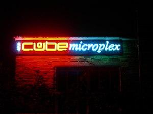 Cube Microplex - Cube Microplex neon signage