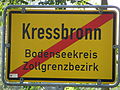 D-BW-Kressbronn aB - Ortsausgangsschild (Zollgrenzbezirk).JPG