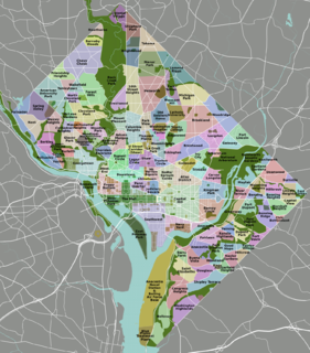 Neighborhoods in Washington, D.C. distinguished by their history, culture, architecture, demographics, and geography