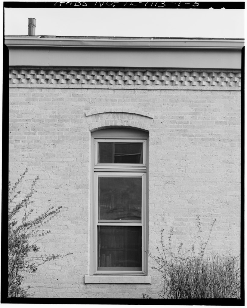 Front Elevation Window : File detail window west wing of south front elevation