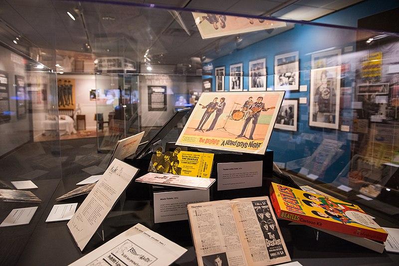 """File:DIG13766-028 - """"Ladies and Gentlemen... the Beatles!"""" exhibit at LBJ Presidential Library, Austin, TX, 2015-06-23 16.21.03.jpg"""