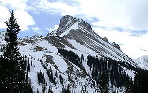 Never Summer Mountains - Nokhu Crags, at the northern end of the Never Summer Mountains