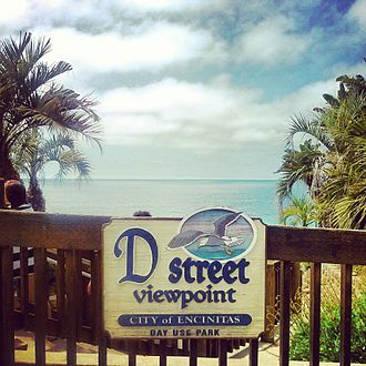 Encinitas, California - The D Street overlook