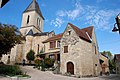 Daglan centre, church and traditional houses, lovely Dordogne - panoramio.jpg