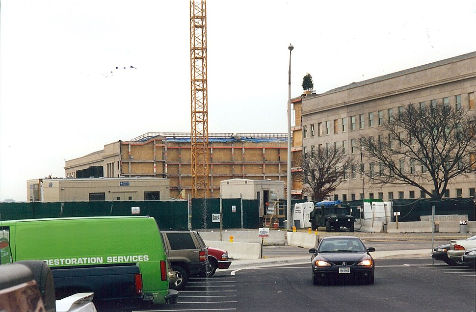Damaged Pentagon being reconstructed