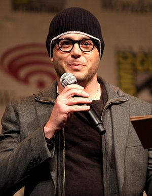 Prometheus (2012 film) - Writer Damon Lindelof promoting Prometheus at WonderCon in 2012. Lindelof was hired to rewrite Jon Spaihts's original script.