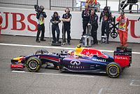 Daniel Ricciardo before the formation lap of the 2014 Chinese Grand Prix.jpg