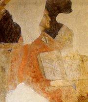 A portrait of Dante, from a fresco in Palazzo dei Giudici, Florence.