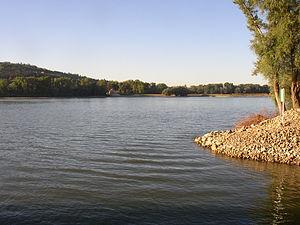 D'Donau tëscht der Slowakei an Ungarn