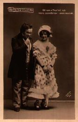 Das Dreimäderlhaus - Fritz Schrödter as Schubert and   Anny Rainer as Hannerl, 1916