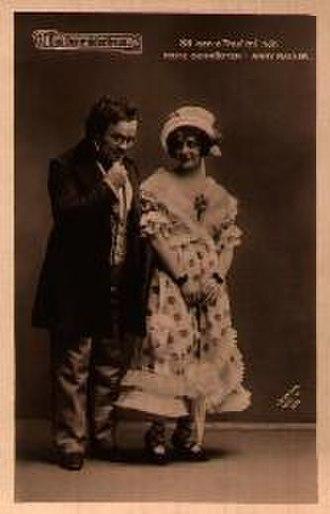 Das Dreimäderlhaus - Fritz Schrödter as Schubert and   Anny Rainer as Hannerl, 1916