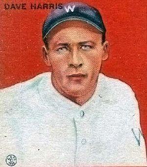 Dave Harris (baseball) - Image: Dave Harris Goudeycard
