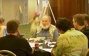 Dave Arneson - Arneson playing Blackmoor at ConQuesT 2006