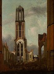 De Dom te Utrecht na de instorting in 1674