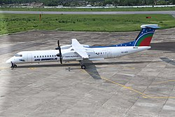 De Havilland Canada DHC-8-400 of US-Bangla Airlines at Osmani International Airport, May 2015 (44).jpg
