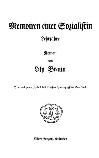 File:De Memoiren einer Sozialistin - Lehrjahre (Braun).djvu