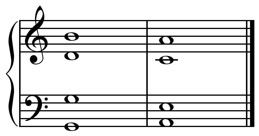 Deceptive cadence in C