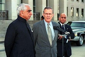 Jaswant Singh - Jaswant Singh (left) with Donald Rumsfeld