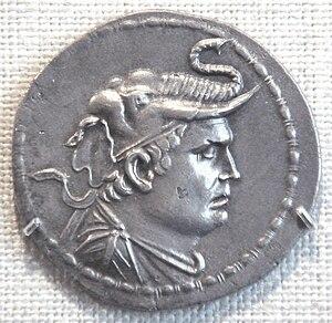 Demetrius I of Bactria - Coin of Demetrius I. Metropolitan Museum of Art.