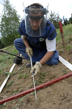 Land mine contamination in Bosnia and Herzegovina - Demining