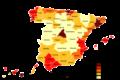 Densidades de población en España (2005).png