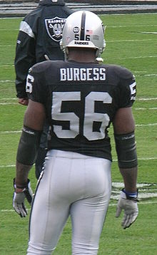 Description de l'image Derrick Burgess at Patriots at Raiders 12-14-08.JPG.