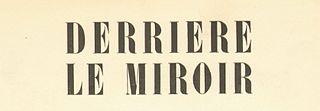 <i>Derrière le miroir</i> periodical literature
