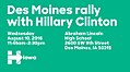 Des Moines rally with Hillary Clinton August 10 (b).jpg