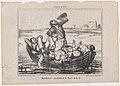 Descendant joyeuseument le fleuve de la vie, from Croquis d'Été, published in Le Charivari, August 7, 1856 MET DP876507.jpg