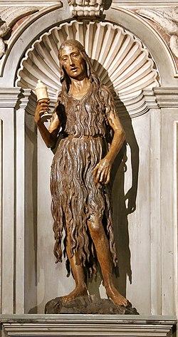 Desiderio da Settignano, maddalena, 1455, con mostra di altare del xvi secolo, 04.jpg