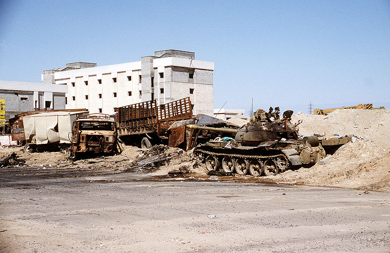File:Destroyed Iraqi T-54, T-55 or Type 59 tank and IFA W50 truck at Al Mutla Pass.JPEG