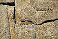 Detail, Ushankhuru or Taharqa. Sam'al stele of the Assyrian king Esarhaddon, 671 BCE. Pergamon Museum, Germany.jpg