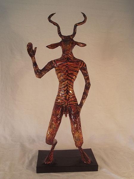 File:Devil Satan Diablo Baphomet Cornish sculpture in Papier-mâché ...