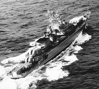 Soviet frigate <i>Doblestnyy</i>