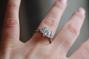 Engagement ring - 1.51ct princess cut