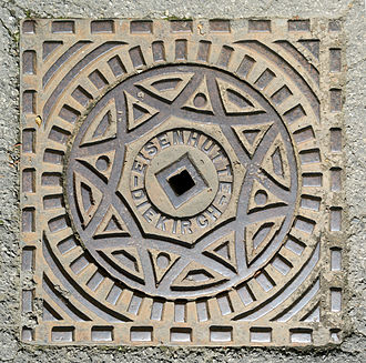 Diekirch Manhole cover Fonderie de DIekirch 2013.jpg