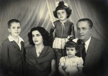 Dilma Rousseff, terza da sinistra, con i genitori e i fratelli.