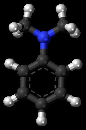 Dimethylaniline - Image: Dimethylaniline 3D balls 2