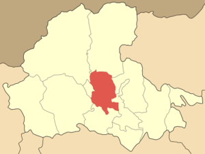 Map of the municipal unit of Meniida in Pella.