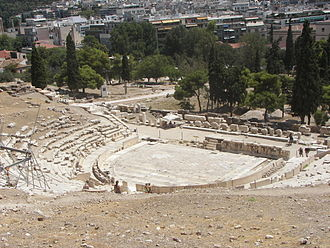 Greek tragedy - The theatre of Dionysus in Athens