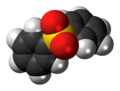 Diphenyl sulfone molecule spacefill.png