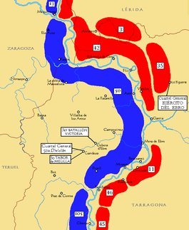 Map Of Spain Ebro River.Battle Of The Ebro Wikipedia