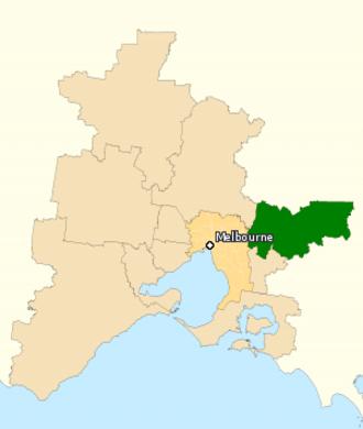 Division of Casey - Division of Casey in Victoria, as of the 2016 federal election.