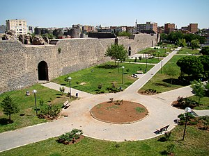Amida (Mesopotamia) - The walls of Amida, built by Constantius II before the Siege of Amida of 359, when the city was conquered by the Sassanid king Shapur II.