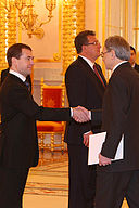 Dmitry Medvedev with Tomas Bertelman.jpg