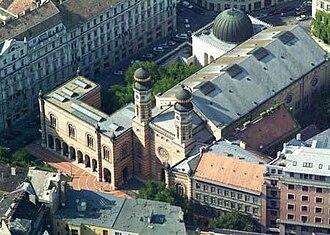 Erzsébetváros - Image: Dohanyzsinagogaciver tanlegi