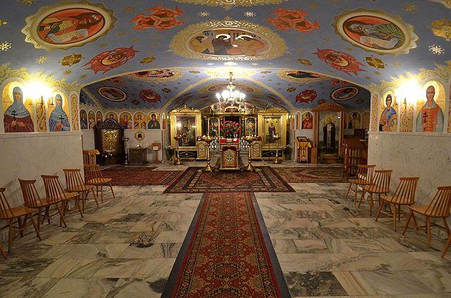 Intérieur de l'église Orthodoxe de Sainte Marie Madeleine à Varsovie.
