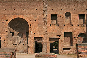 Opus latericium - A wall of the Domus Augustana in Rome