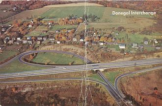 Donegal, Pennsylvania - PA Turnpike at Donegal, PA, 1959.